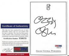 Ozzy Osbourne Music Legend Signed Autographed 4x5 Bookplate Psa/dna Coa L Rare