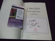 "Ozzy Osbourne Music Legend Signed Autographed "" I Am Ozzy"" Book Jsa Coa #k59355"
