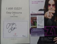 "Ozzy Osbourne Music Legend Signed Autographed "" I Am Ozzy"" Book Jsa Coa Rare B"