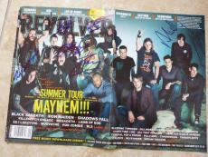 Ozzy Osbourne Rob Zombie +5 Signed Magazine Cover Photo PSA Beckett Guaranteed