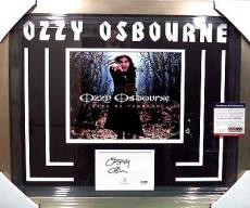 Ozzy Osbourne Rock Music Legend Psa/dna Coa Signed Autograph Matted & Framed A