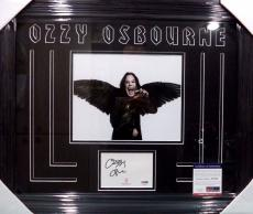 Ozzy Osbourne Rock Music Legend Psa/dna Coa Signed Autograph Matted & Framed B