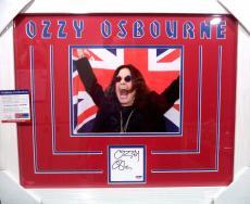 Ozzy Osbourne Rock Music Legend Psa/dna Coa Signed Autograph Matted & Framed D