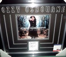 Ozzy Osbourne Rock Music Legend Psa/dna Coa Signed Autograph Matted & Framed E