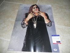 Ozzy Osbourne Sabbath Signed Autograph 16x22 Magazine Poster Photo PSA Certified
