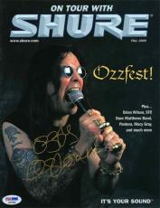 Ozzy Osbourne 'Shure' Autographed Signed Magazine Certified Authentic PSA/DNA