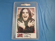 Ozzy Osbourne Signed 5x7 Photo Psa Dna Coa Slabbed Autograph Black Sabbath
