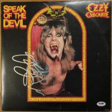 Ozzy Osbourne Signed Album Cover - Speak of The Devil - PSA DNA