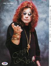 Ozzy Osbourne Signed Authentic Autographed 8.5x11 Magazine Page PSA/DNA #AB96782