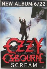 Ozzy Osbourne Signed Authentic Autographed Scream 27x40 Poster PSA/DNA #Y89271