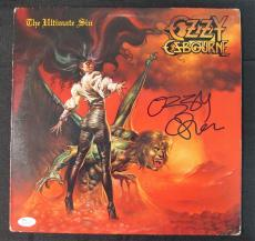 Ozzy Osbourne Signed Autograph The Ultimate Sin LP Vinyl Album JSA N26707