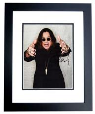 Ozzy Osbourne Signed - Autographed 8x10 Photo BLACK CUSTOM FRAME - Black Sabbath - Prince of Darkness