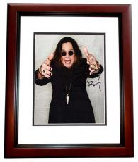 Ozzy Osbourne Signed - Autographed 8x10 Photo MAHOGANY CUSTOM FRAME - Black Sabbath - Prince of Darkness