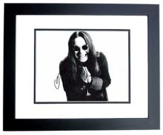Ozzy Osbourne Signed - Autographed Heavy Metal - Black Sabbath Singer 11x14 inch Photo - BLACK CUSTOM FRAME - Guaranteed to pass PSA or JSA