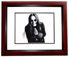 Ozzy Osbourne Signed - Autographed Concert 11x14 inch Photo - MAHOGANY CUSTOM FRAME - Guaranteed to pass PSA or JSA - Black Sabbath
