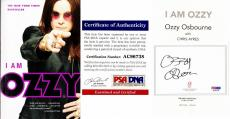 Ozzy Osbourne Signed - Autographed I AM OZZY Paperback Book with PSA/DNA Certificate of Authenticity (COA) (COA)