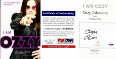 Ozzy Osbourne Signed - Autographed I AM OZZY Paperback Book with PSA/DNA Authenticity (COA)