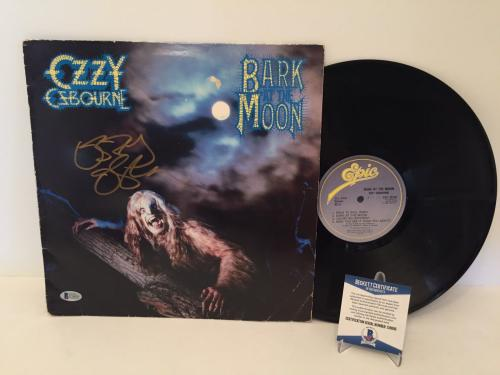 Ozzy Osbourne Signed Bark At The Moon Record Album LP Beckett BAS