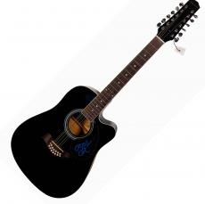 Ozzy Osbourne Signed Black Sabbath 12-String Acoustic Guitar UACC RD COA AFTAL