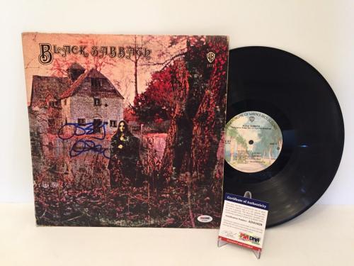 Ozzy Osbourne Signed Black Sabbath Vinyl Record Album LP PSA AD41029
