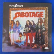 Ozzy Osbourne Signed Black Sabbath Sabatoge LP Vinyl Album PSA/DNA U78522