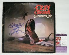 Ozzy Osbourne Signed Blizzard Of Ozz Record Album Jsa Coa R18301