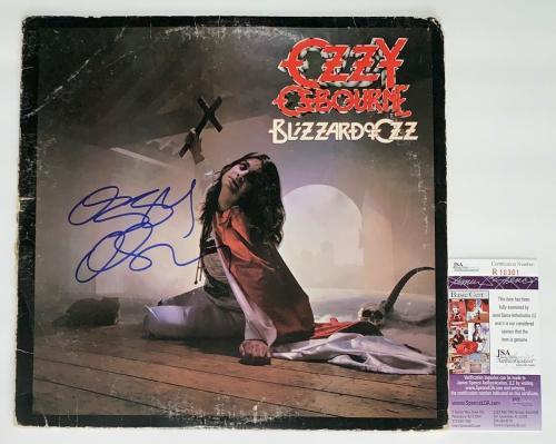 Ozzy Osbourne Signed Blizzard Of Ozz Record Album Jsa Coa R18301