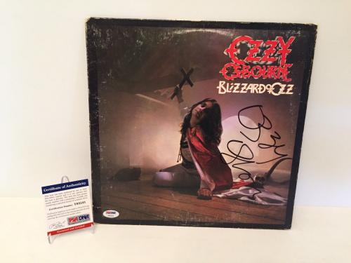 Ozzy Osbourne Signed Blizzard Of Ozz Record Album LP *Crazy Train PSA