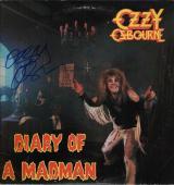 Ozzy Osbourne Signed Diary Of A Madman Record Album Jsa Coa R18300