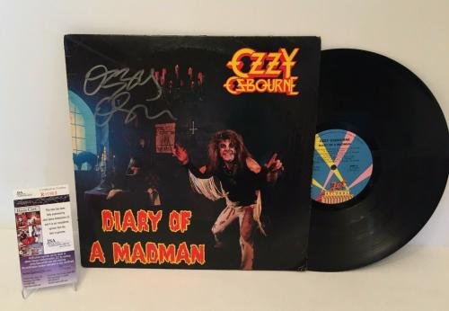Ozzy Osbourne Signed Diary Of A Madman Record Album LP *Over The Mountain JSA
