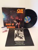 Ozzy Osbourne Signed Diary Of A Madman Record Album LP *Over The Mountain PSA
