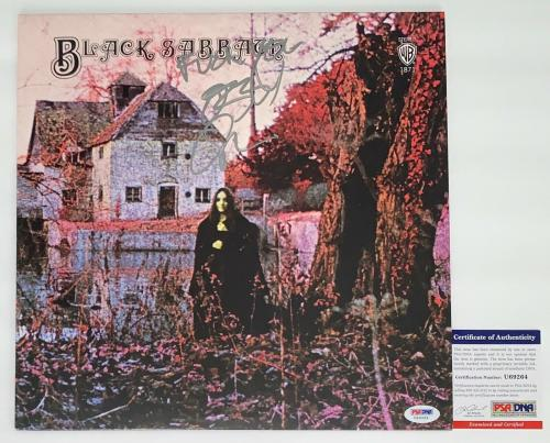 "Ozzy Osbourne Signed ""f@#k You"" Black Sabbath Record Album Psa Coa U69264"