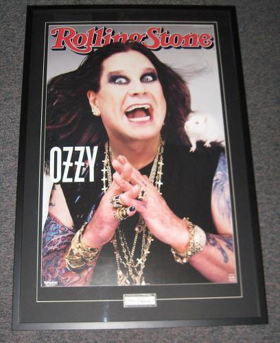 Ozzy Osbourne Signed Framed 28x41 Poster Photo Display PSA/DNA Black Sabbath
