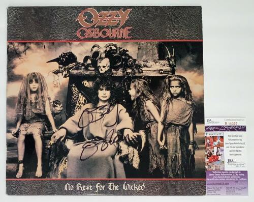 Ozzy Osbourne Signed No Rest For The Wicked Record Album Jsa Coa R18302