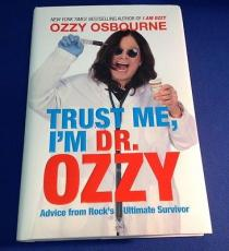 Ozzy Osbourne signed Tust Me I'm Dr. Ozzy Book PSADNA Cert# W59926