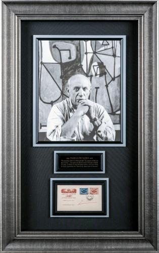 Pablo Picasso Signed Display Framed 23×37