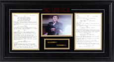 Al Pacino Scarface Framed Photograph with Script & Bullet