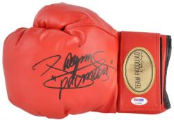 Manny Pacquiao Autographed Red Gloves