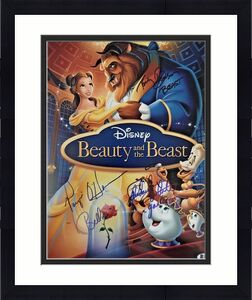 Paige O' Hara Robby Benson R White Signed Beauty & The Beast 11x14 Photo BAS COA