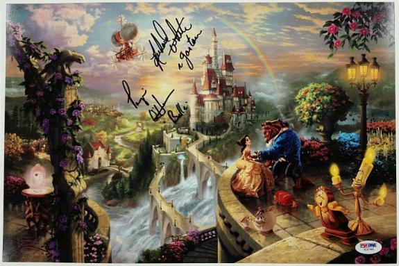 PAIGE O'HARA + RICHARD WHITE Signed 10x15 Photo Beauty & the Beast PSA/DNA COA