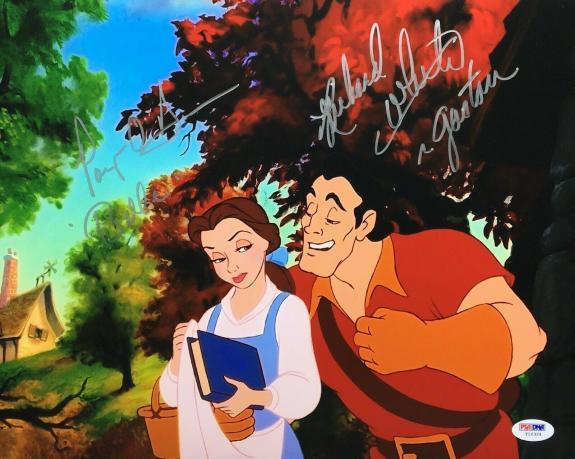 """Paige O'Hara & Richard White Signed 11x14 Photo """"Belle / Gaston"""" PSA Y10324"""