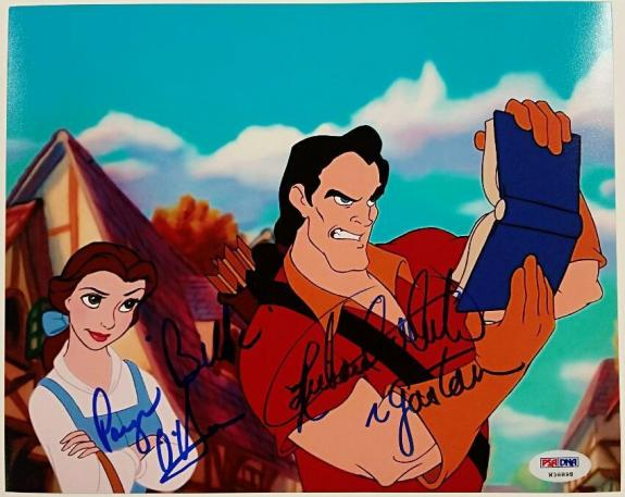PAIGE O'HARA + RICHARD WHITE Signed 8x10 Photo #3 Beauty & the Beast w/ PSA/DNA