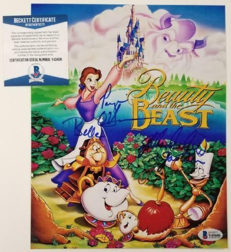 Paige O'Hara & Richard White signed Beauty and the Beast 8x10 Photo 1 ~ BAS COA