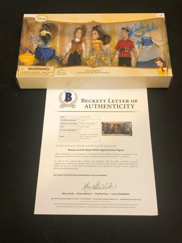 Paige O'Hara Robby Benson Cast Disney Beauty and the Beast Signed Autograph Doll