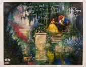 PAIGE O'HARA + ROBBY BENSON Signed 11x14 Canvas Beauty & the Beast w/BECKETT COA