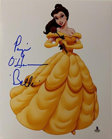 PAIGE O'HARA Signed 8x10 Photo #5 BEAUTY AND THE BEAST Blue w/ Beckett BAS Coa