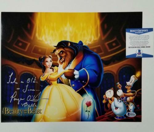 Paige O'Hara signed Beauty and the Beast 11x14 Photo w/ Inscription ~ BAS COA