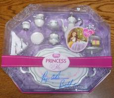 Paige O'Hara Signed Beauty and the Beast Belle Tea Set PSA/DNA Disney Princess