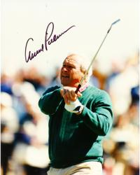 Fanatics Authentic Autographed Arnold Palmer 8'' x 10'' Green Sweater Swinging Photograph