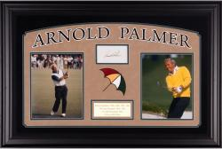 Arnold Palmer Deluxe Horizontal Framed Collectible with 3'' x 5'' Autographed Cut